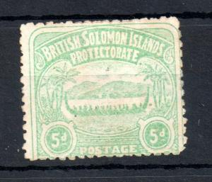 Solomon Islands 1907 5d green fine used SG#5 WS13385