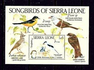 Sierra Leone 675 MNH 1985 Birds S/S