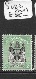 BRITISH CENTRAL AFRICA  (P1209B) ARMS  2D  SG 22  MOG