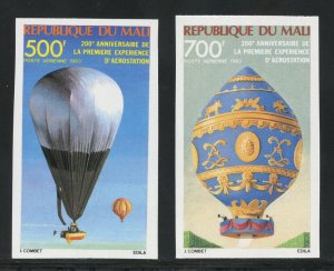 Mali C470-71 MNH Hot Air Balloon Imperf Set  from 1983