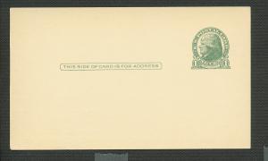 US Scott's # UX27 1 Cent Jefferson Preprinted- Postcard Unused
