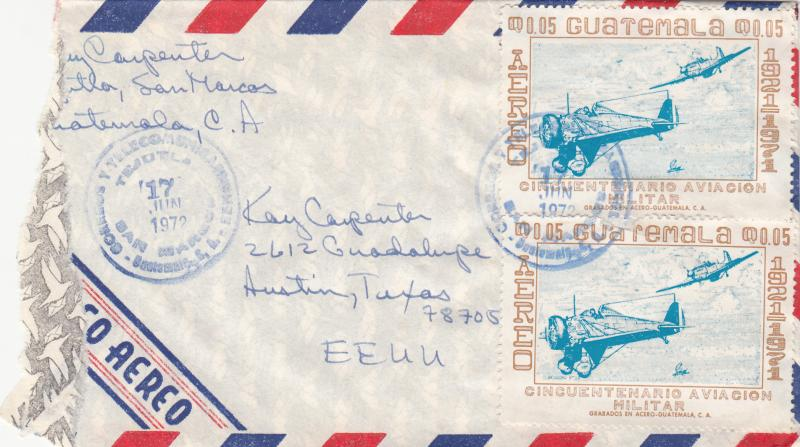Guatemala C475 Used on Airmail Cover