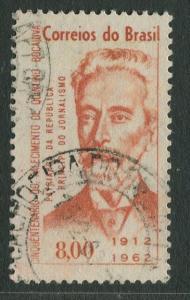Brazil - Scott 948 - Quintino Bocaiuva - 1962 - Used- Single 8cr Stamp