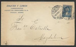 MEXICO SONORA 1914 1c on cover Nogales to Magdalena........................52823
