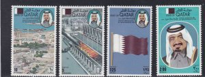 Qatar # 565-568, Independence 8th Anniversary, NH, 1/2 Cat.