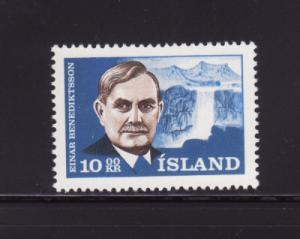Iceland 377 Set MH Einar Benediktsson, Poet (A)
