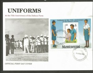 1989 Montserrat Girl Guides Defence Force SS FDC