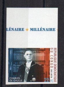 CONGO - CHARLES DE GAULLE - Imperforated - 2001 -