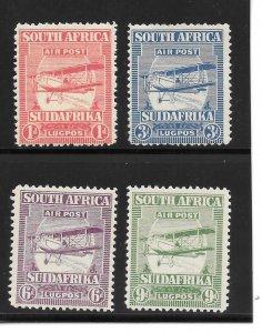 South Africa Scott C1-C4 Mint Airmail stamps 2015 CV $61.00