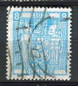 NEW ZEALAND; 1950s early Stamp Duty fine used $8. value