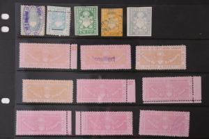 Swiss Canton Vaud Fribourg Visa Commerce Civil lot 14 EFO misperf visa timbre DL