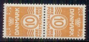 DENMARK #228v 10ore, Tete-Beche pair, og, NH, VF Facit $135.00