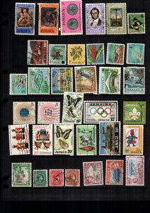 Jamaica  33  diff used and mint lot collection