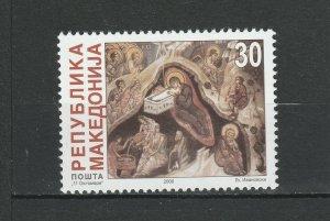 Macedonia 2000 Christmas MNH stamp