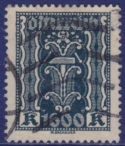 Austria - 1923 - Scott #284 - used - Symbols of Labor and Industry