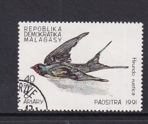 Malagasy Republic   #1029  cancelled  1991  birds  40fr