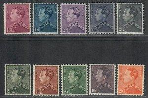 $Belgium Sc#294-303 M/LH, part set, Cv. $56