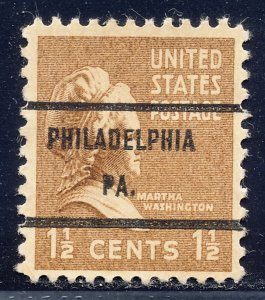 Philadelphia PA, 805-71 Bureau Precancel, 1½¢ M. Washington