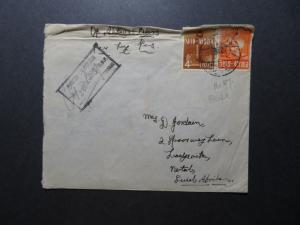 Egypt WWII Active Service Censor Cover to South Africa / Top Creasing - Z11616