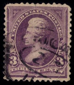 US SCOTT #253 USED CREASED CENTER VERY FINE