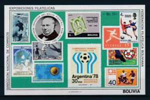 [60750] Bolivia 1979 World Cup Soccer Football Stamps on stamps MNH Sheet