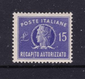 Italy a MNH 15L letter post from 1948