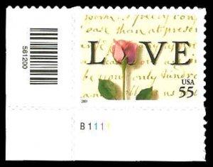 PCBstamps   US #3499 55c LOVE, 1991, MNH, (4)
