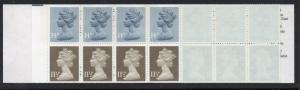 Great Britain Sc BK826 1981 £2.55 MH86c  Machin stamp booklet mint NH