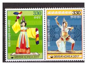 SRI LANKA 2017  Joint issue with S.Korea Costumes 2 v MNH
