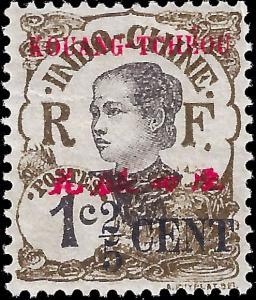 France-Kouang Tcheou 1919 YT 35 MH F