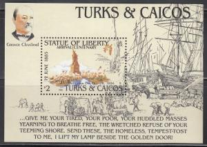 Turks & Caicos, 665, MNH, 1985, Statue of Liberty