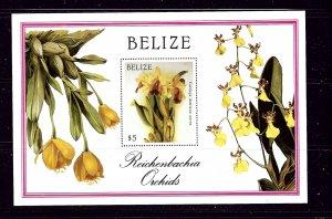 Belize 896 MNH 1987 Orchids S/S