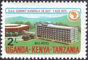 Kenya-Uganda-Tanzania # 310 mnh ~ 2sh Nile Hotel