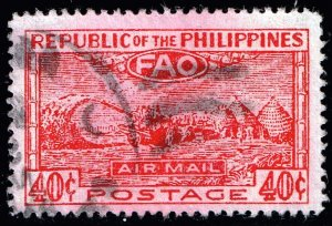Philippines Stamp 1948 United Nations Food and Agriculture Organization USED 40C