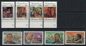 St. Lucia #559-62, 564-7* NH  CV $4.65
