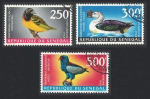 Senegal Weaver Duck Bateleur Birds 3c 1968 Canc SG#379-381 SC#C55-C57