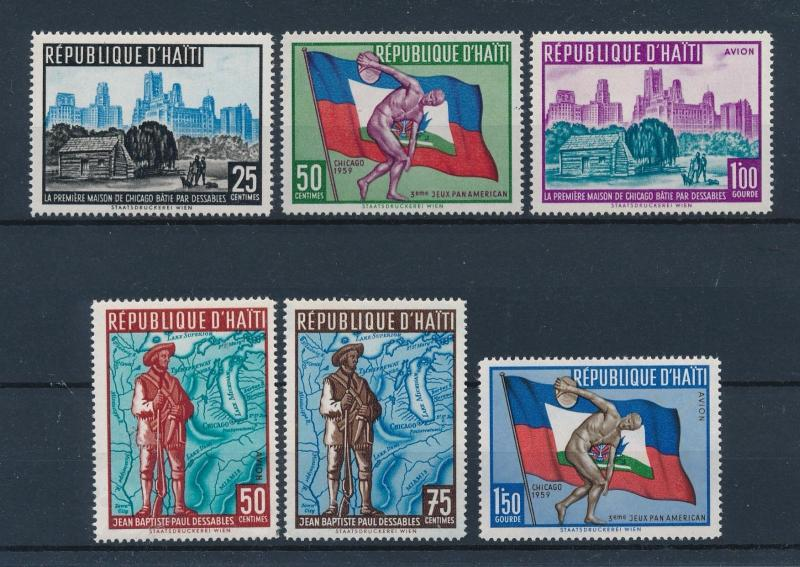 [44431] Haiti 1959 Sports Pan American games Chicago MNH
