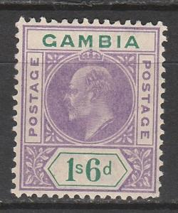 GAMBIA 1909 KEVII 1/6