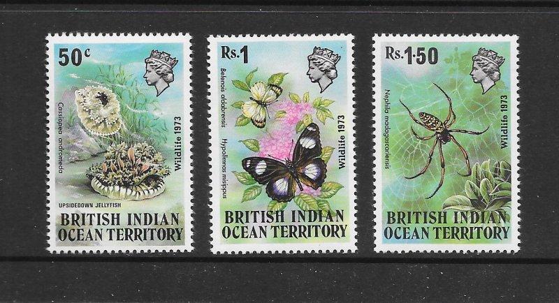 BRITISH INDIAN OCEAN TERRITORY #54-56  VLH