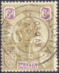 Malta #108, Incomplete Set, 1922-1926, Used