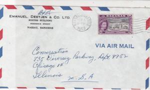 Bahamas 1963 Emanuel Deetjen & Co.Ltd Nassau Airmail to USA Stamps Cover Rf25379