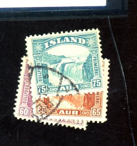 Iceland #173-5 Used FVF Cat$43
