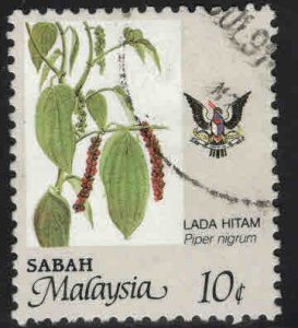 Malaysa Sabah  Scott 42 Used agriculture stamp