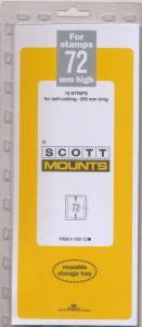 Prinz Scott Stamp Mount 72/265 CLEAR Background Pack of 10