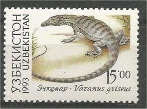 UZBEKISTAN, 1993, MNH 15r, Fauna, Scott 13