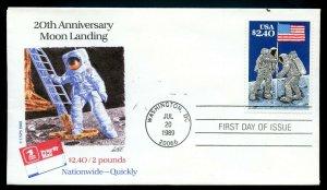 U.S. Scott 2419 Moon Landing FDC