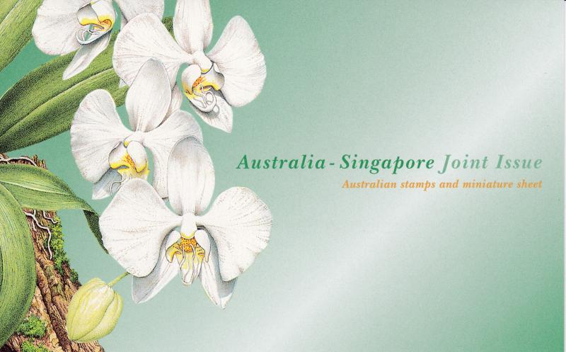 Ustralia & Singapore 1998 Joint Issue Presentation Pack ORCHIDS XF