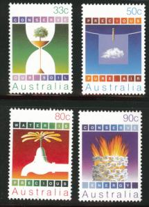 AUSTRALIA Scott 954-957 MNH** Conservation set