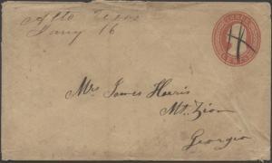 TEXAS CHEROKEE COUNTY (1800's Alto)(Manuscript Cancel)