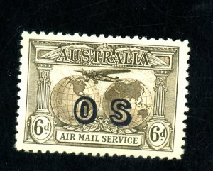 AUSTRALIA #CO1 MINT VF OG HR Cat $35